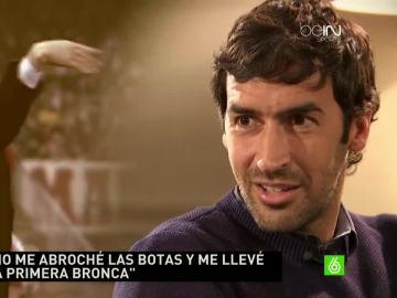 Raúl en una entrevista con Valdano