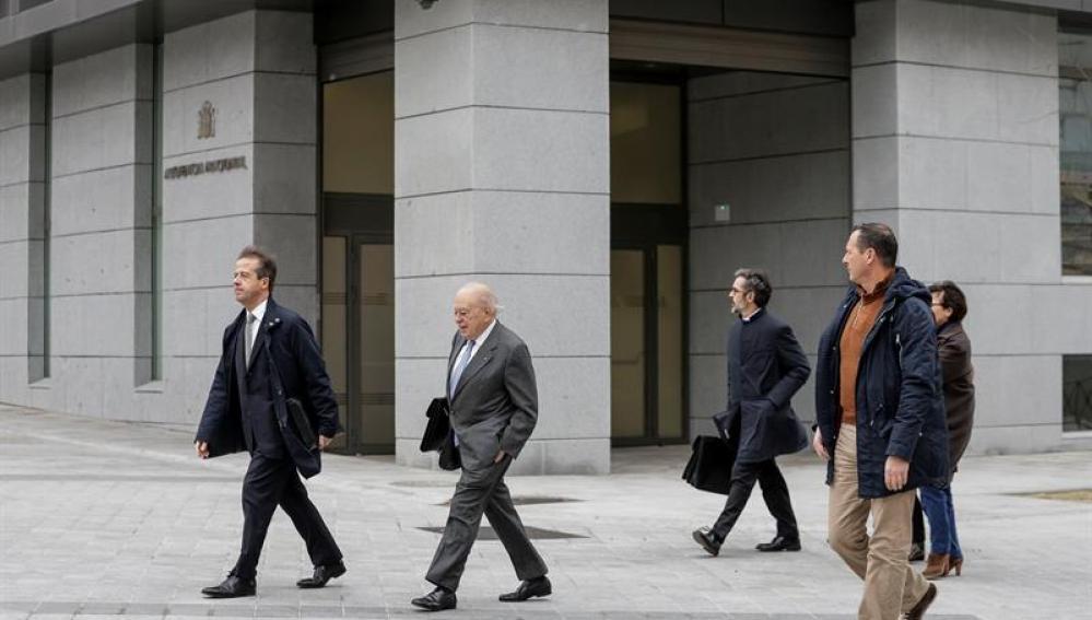 Jordi Pujol, a su llegada a la Audiencia Nacional