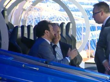 Florentino Pérez y Jose Ángel Sánchez hablando