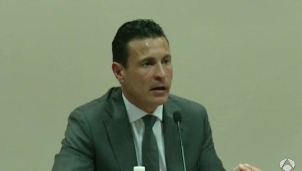 Amadeo Salvo, en una rueda de prensa