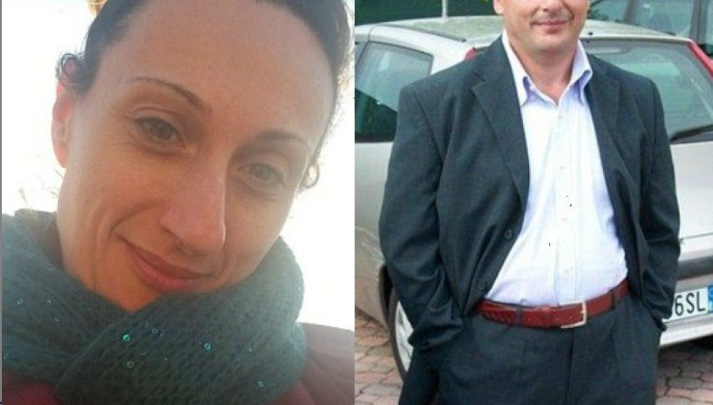 Anna del Bono (izquierda) y su ex marido Vincenzo Altobelli (derecha)