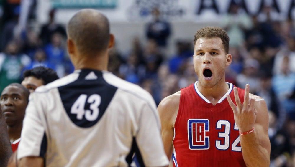 Blake Griffin, durante un partido con los Clippers