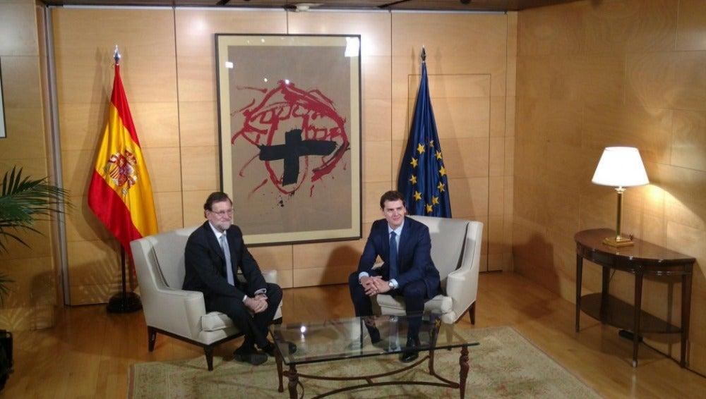 Mariano Rajoy y Albert Rivera en el Congreso