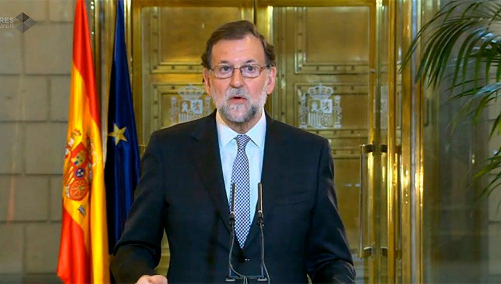 Mariano Rajoy, tras su reunión con Albert Rivera