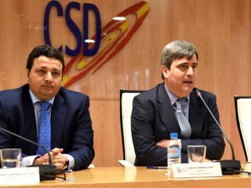 Miguel Cardenal, presidente del CSD durante la reunión de las federaciones españolas
