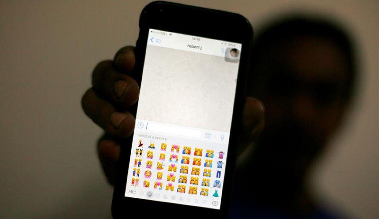 emoticonos de un servicio de mensajería instantánea en Yakarta (Indonesia)