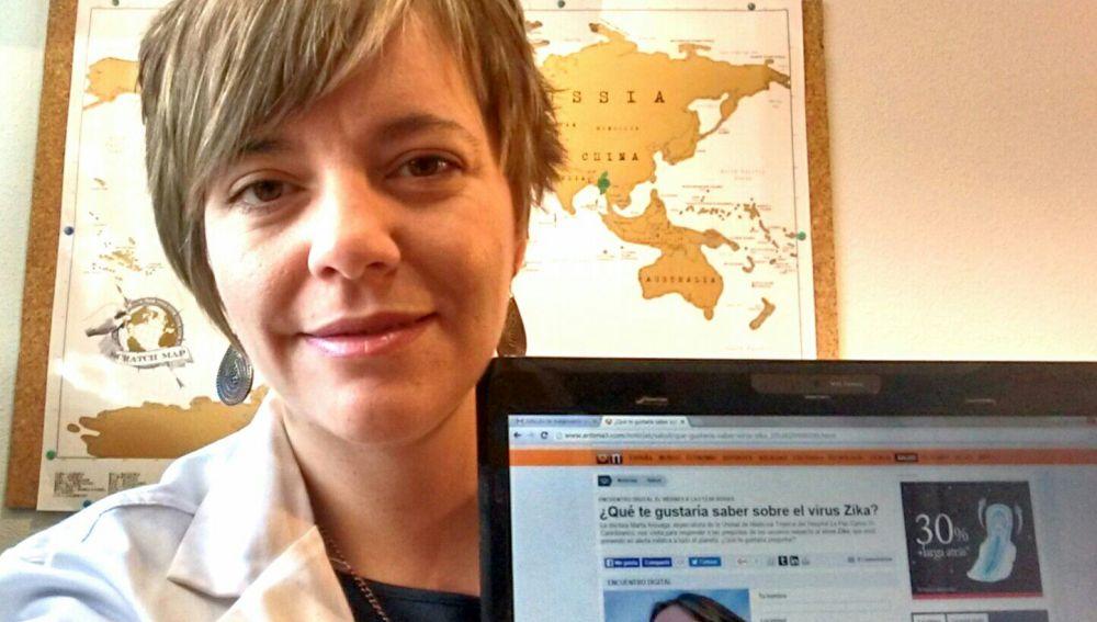 La doctora Marta Arsuaga, especialista en enfermedades tropicales