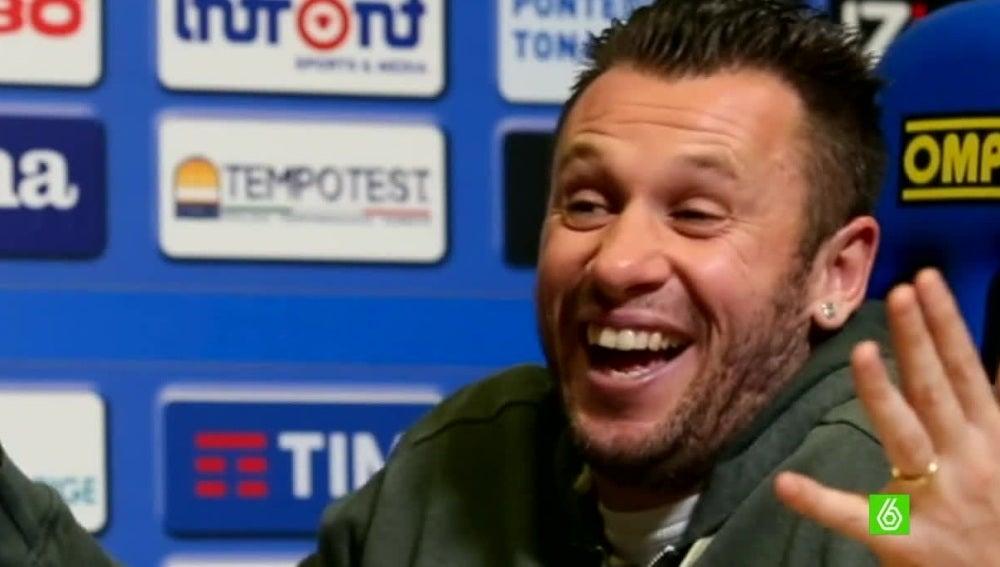 Antonio Cassano, durante una entrevista