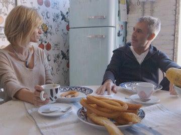 Susanna Griso desayuna con Sergio Dalma