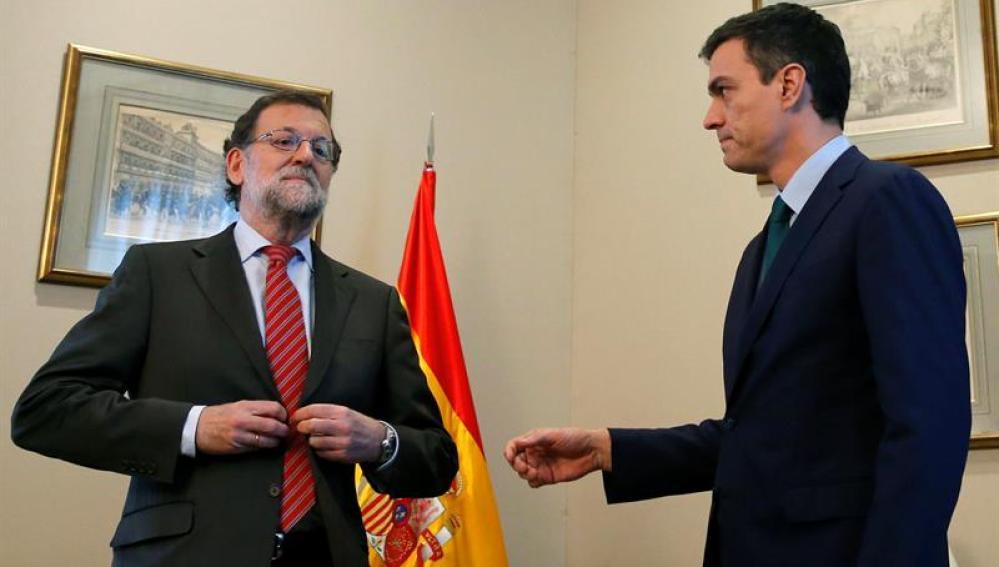 Encuentro entre Rajoy y Sánchez