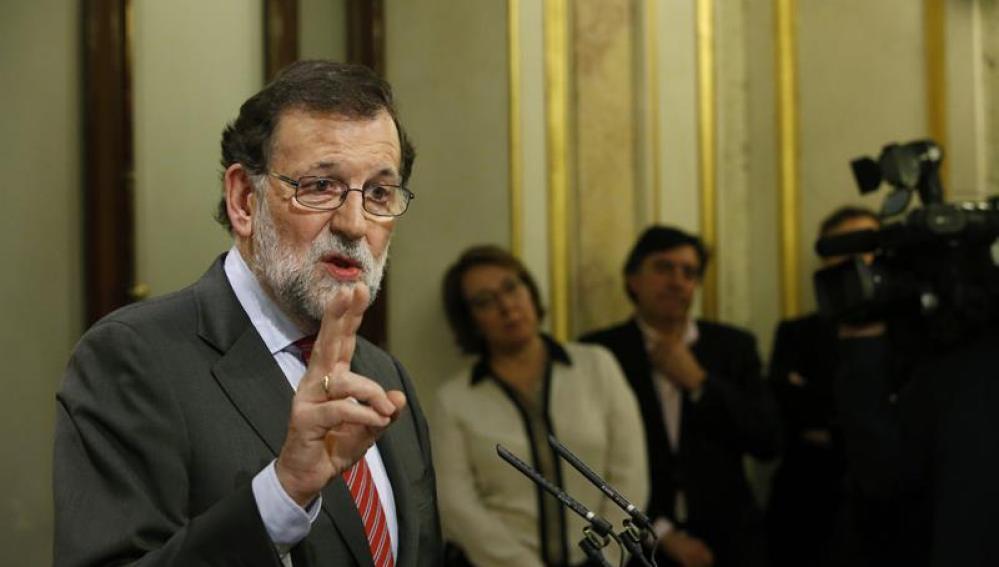 Mariano Rajoy, tras reunirse con Pedro Sánchez