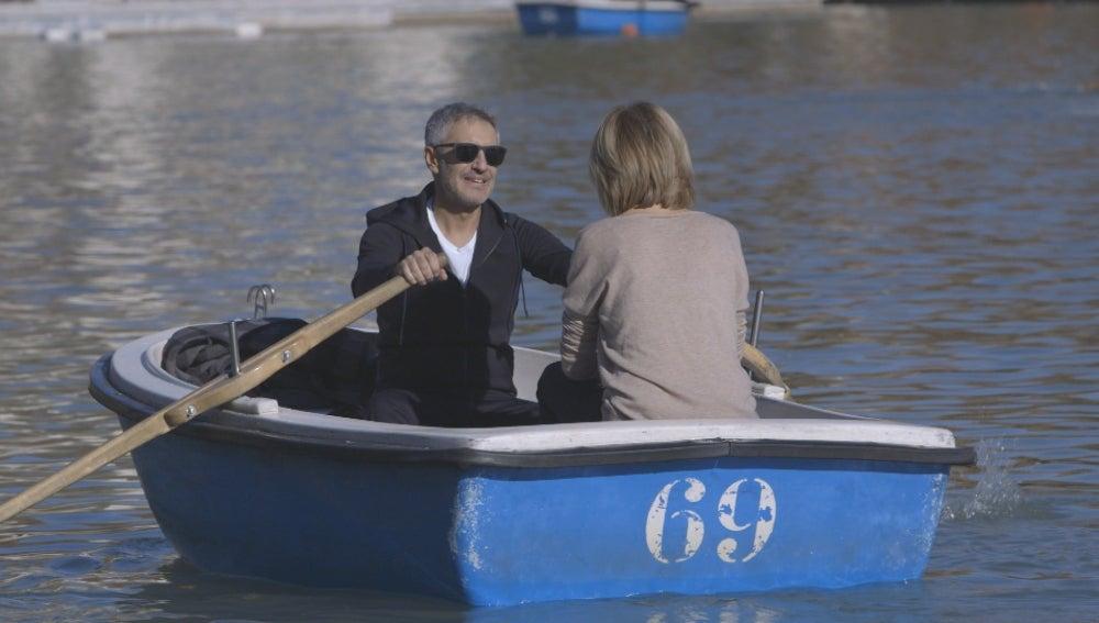 Sergio Dalma rema junto a Susanna Griso
