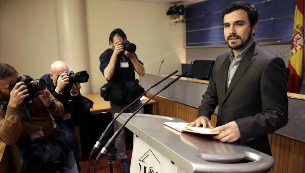 """Garzón: """"no puede gobernar una trama de corrupción que se presenta a elecciones"""""""