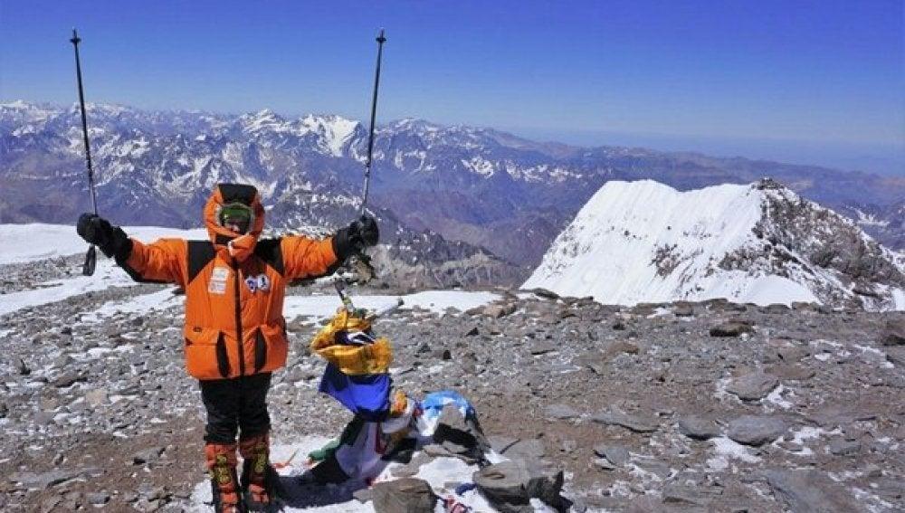 Dor Geta Popescu, en la cima del Aconcagua