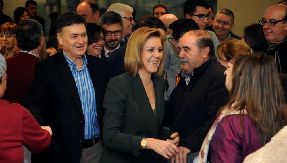 La secretaria general del PP , María Dolores de Cospedal, en un acto del partido en Segovia