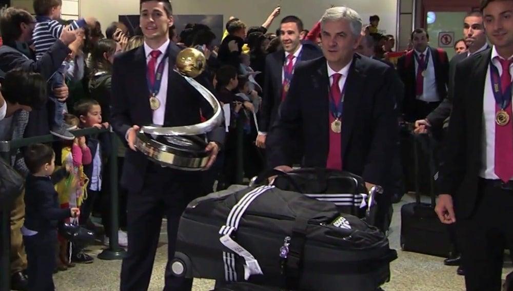 España, en el aeropuerto Adolfo Suárez