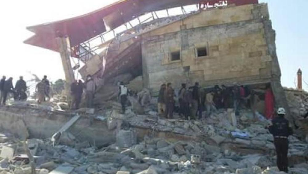 El centro de Médicos Sin Fronteras bombardeado en Siria