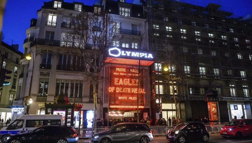 La sala Olympia, donde se ha celebrado el concierto
