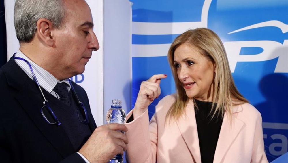 Cristina Cifuentes durante su rueda de prensa
