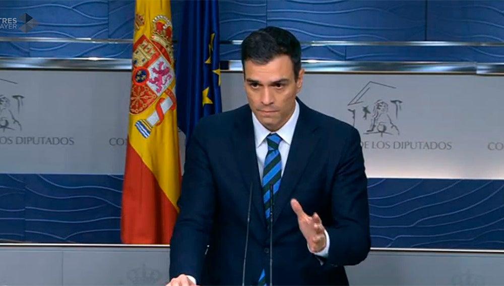 Pedro Sánchez tras la reunión con ERC y DiL