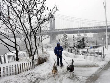 Fuerte temporal de nieve en el este de EEUU