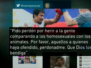 Manny Pacquiao se disculpa