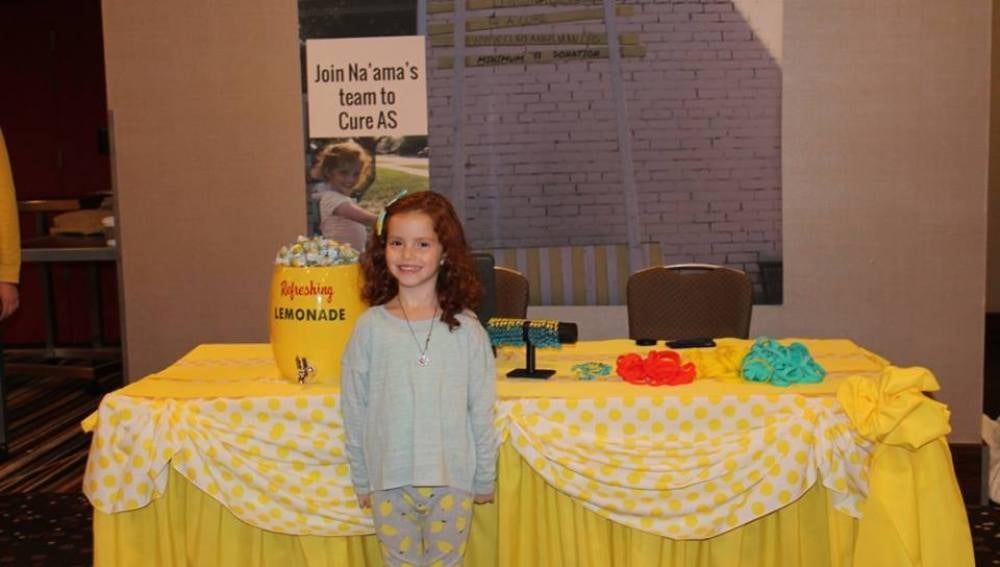 Na'ama durante un evento de AS Lemonade Stand Iniciative
