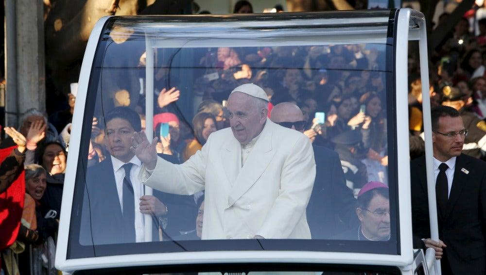 El Papa Francisco, durante su viaje a México