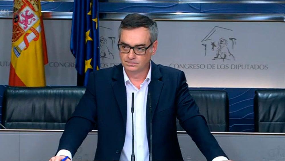 El portavoz del equipo negociador de Ciudadanos, José Manuel Villegas
