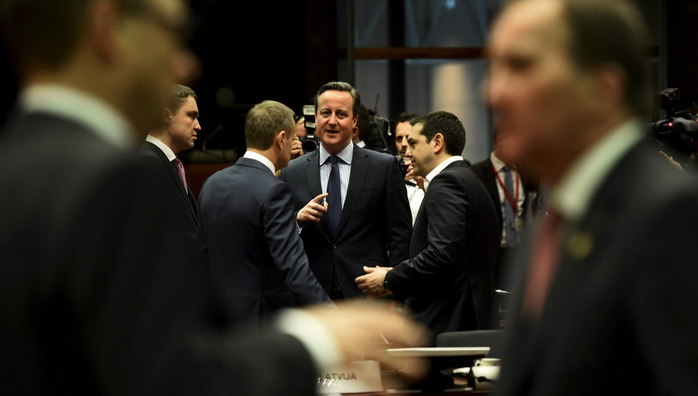 David Cameron, en la cumbre de líderes de la UE