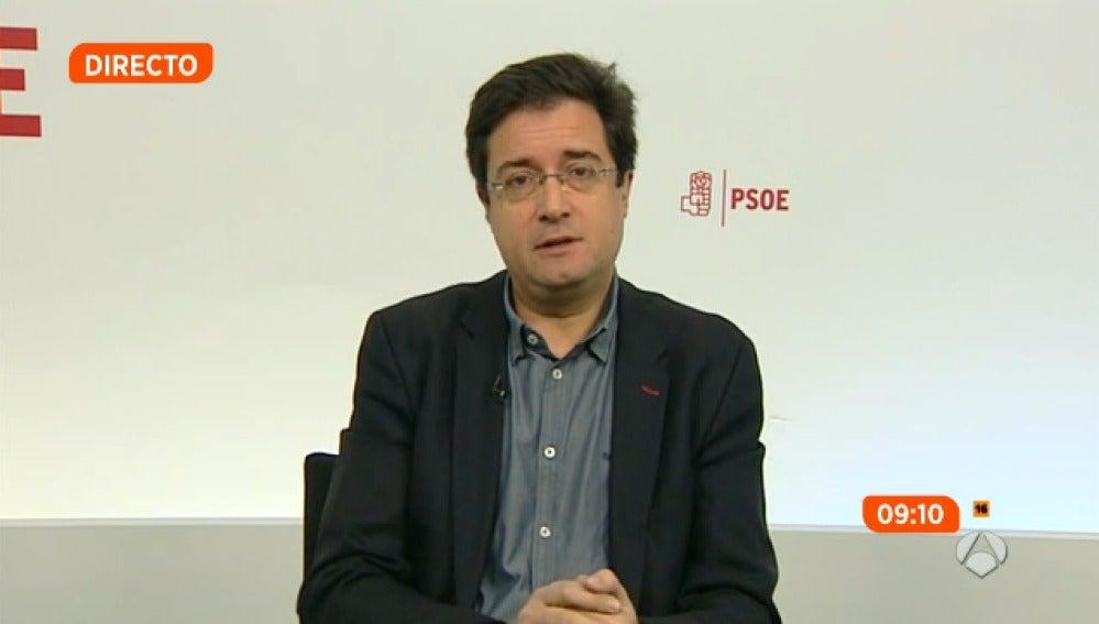 El portavoz socialista en el Senado, Óscar López