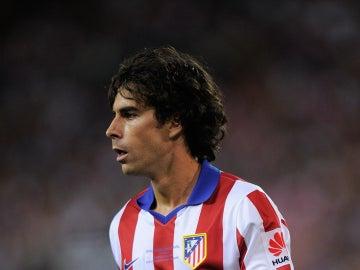 Tiago Mendes durante un partido con el Atlético de Madrid