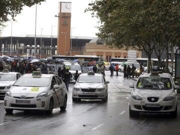 Manifestación de taxistas en Madrid
