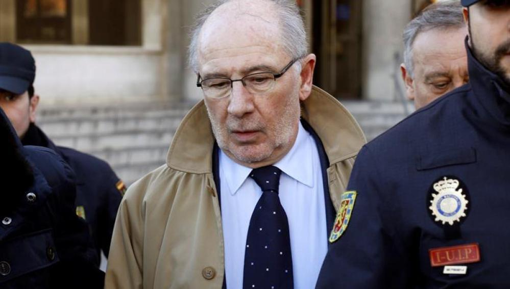 Rodrigo Rato a su salida de los juzgados de Plaza de Castilla