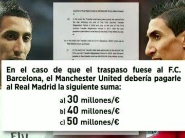 La cláusula si Di María hubiese sido traspasado al Barcelona