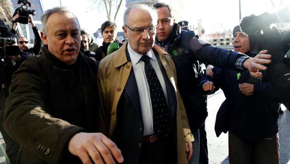 Rodrigo Rato a su llegada a los juzgados de Plaza Castilla