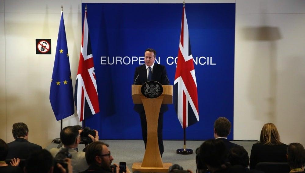 David Cameron, tras la reunión en Bruselas