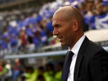 Zinedine Zidane, durante el partido contra el Málaga