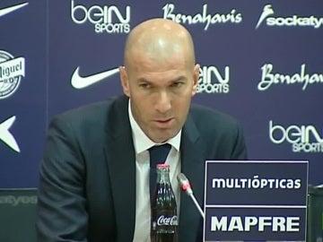 Zinedine Zidane, durante la rueda de prensa