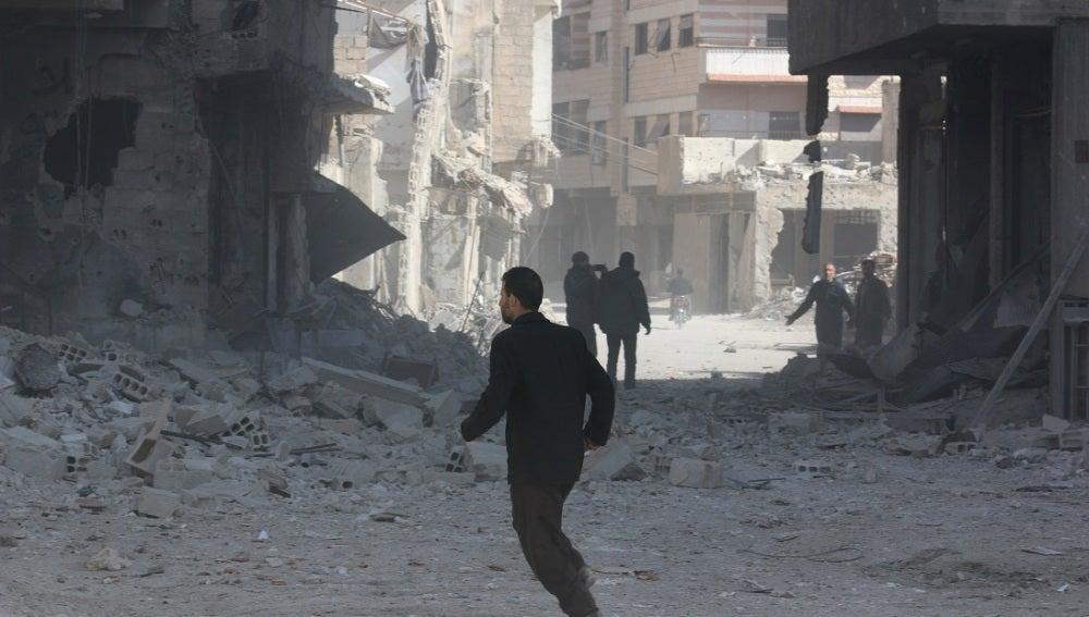 Siria, llena de escombros por la guerra