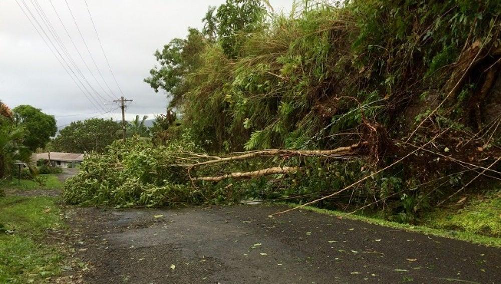 El ciclón Winston a su paso por Fiji