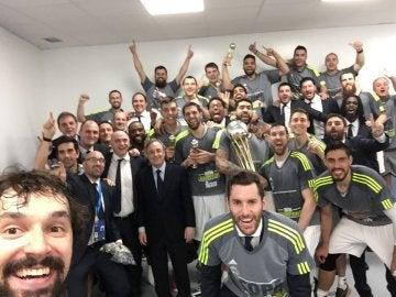 El selfie de Sergio Llull tras ganar la Copa del Rey de A Coruña