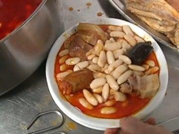 Fabada asturiana y sus ingredientes