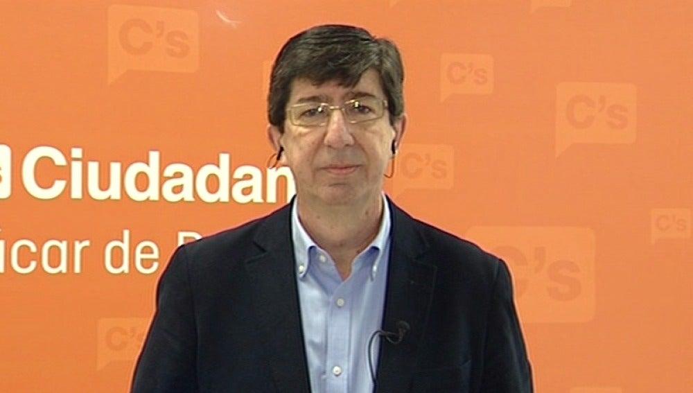 El portavoz de Ciudadanos en Andalucía, Juan Marín