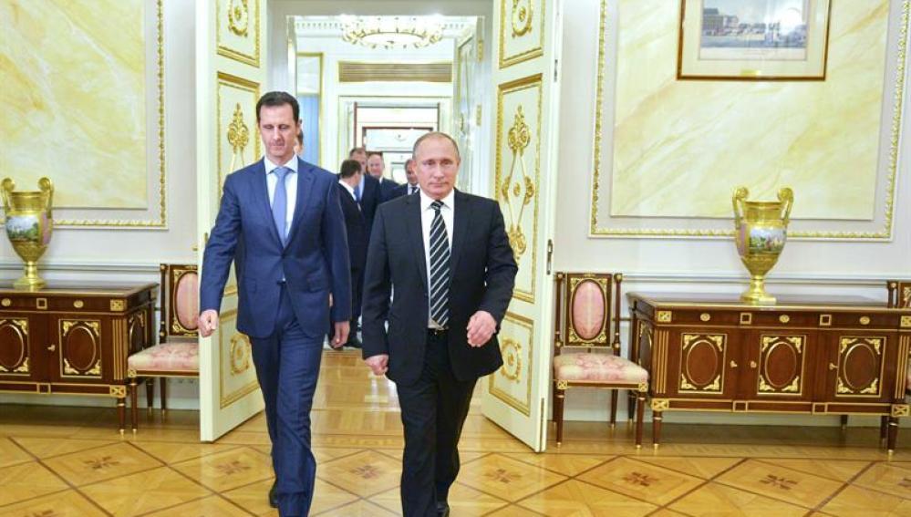 Vladimir Putin y su homólogo sirio, Bashar al-Asad