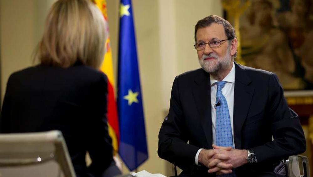 Rajoy y Susanna Griso