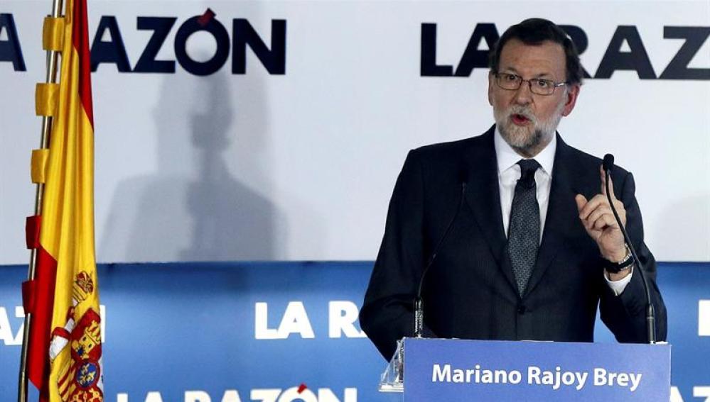 Rajoy durante su intervención en el Foro de La Razón