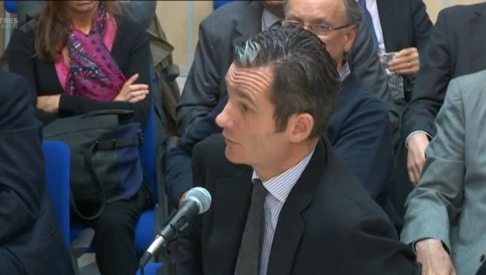Iñaki Urdangarin, durante su declaración por el caso Nóos