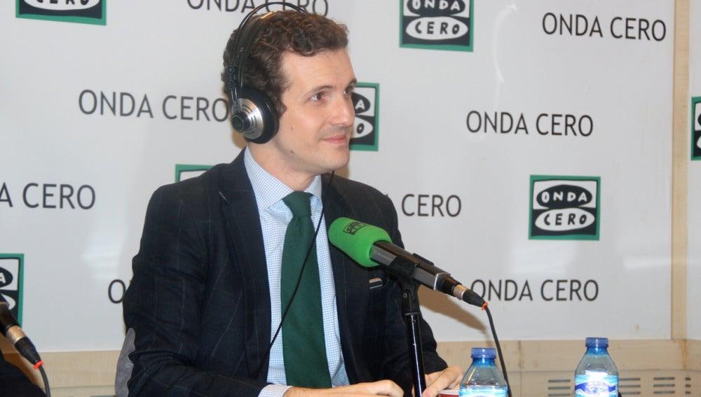 Pablo Casado, durante una entrevista en Onda Cero