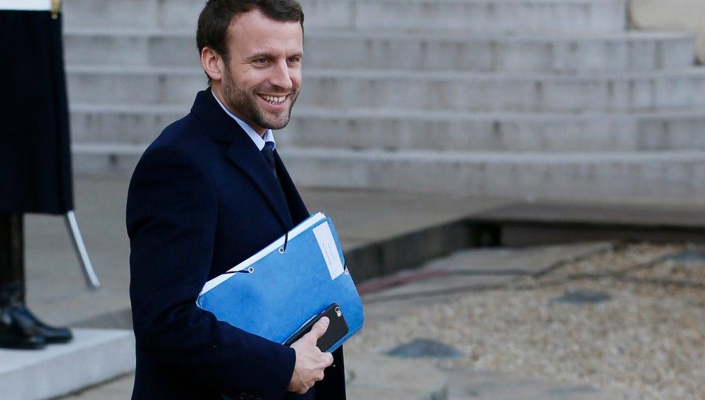 El ministro de Economía de Francia, Emmanuel Macron